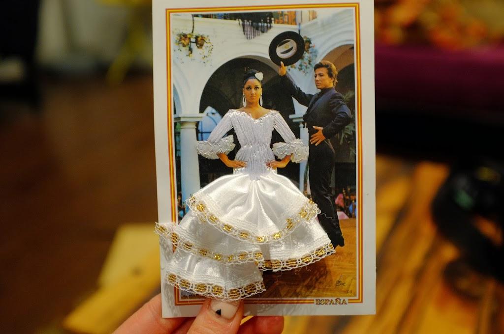 traditional flamenco couple postcard