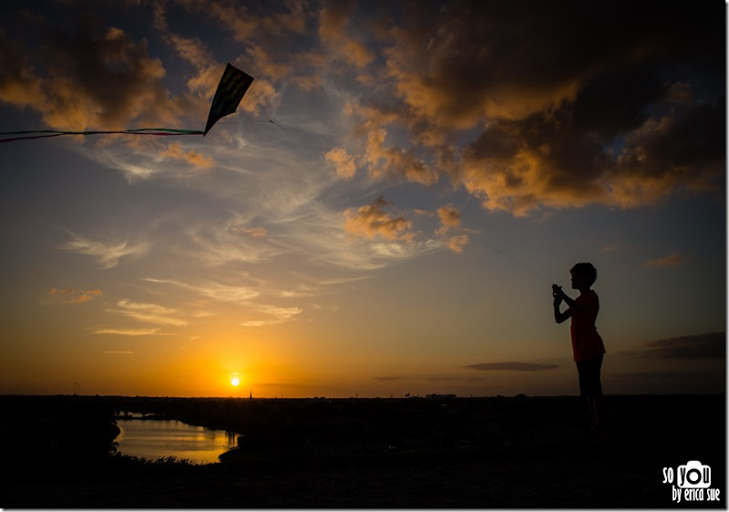 Kite Sunset silhouette-8619