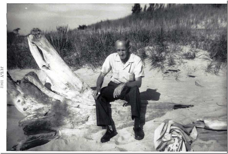 MILNE_Robert sitting at beach_circa 1960