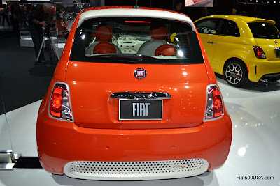 Fiat 500e rear view