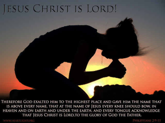 God exalted him [Jesus] to the highest place and gave him the name that is above every other name, that at the name of Jesus every knee should bow, in heaven and on earth and under the earth, and every tongue confess that Jesus Christ is Lord, to the glory of God the Father.