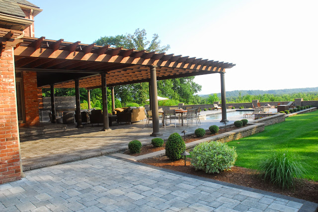 Pergola Provides Needed Shade in Summer
