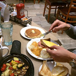 breakfast at Denny's in Toronto, Ontario, Canada