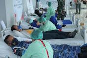 Gandeng RS Sentra Medika Minahasa Utara,Lanud Sam Ratulangi koordinir Donor Darah memperingati HUT TNI ke-76