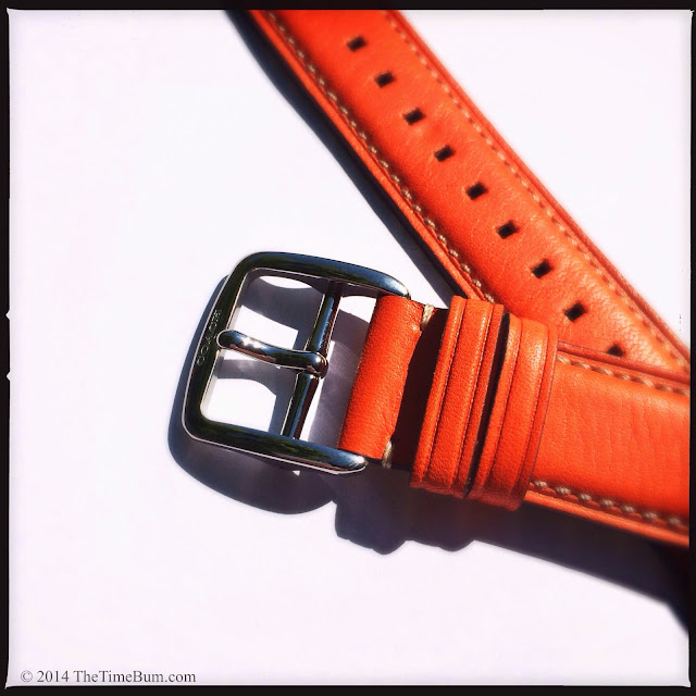 Coach Bleecker leather watch strap