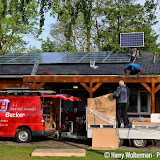 Kantine PJC voorzien van zonnepanelen - Foto's Harry Wolterman