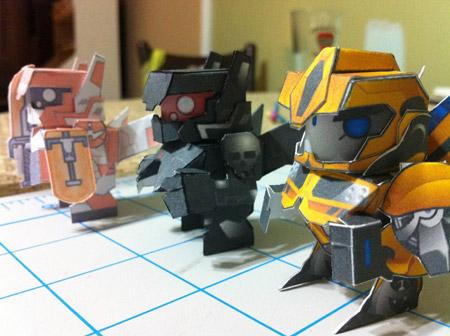 Phantom Capsule Bumblebee Paper Toy