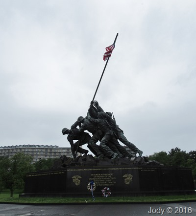 Iwo Jima Flag raising 1945