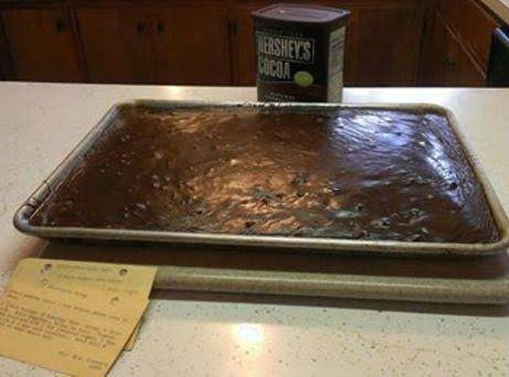 Sheet Chocolate Cake