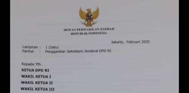 Beredar Petisi Minta Sekjen DPD RI Diganti