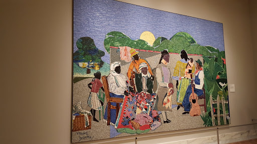 Quilting Time. Romare Bearden, 1986, Mosaic tesserae mounted on plywood. From Love, Change, and the Expression of Thought: 30 Americans at the Detroit Institute of Arts
