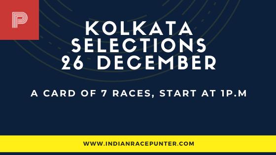Kolkata Race Selections 26 December