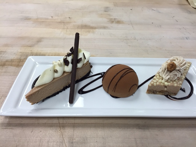 Hazelnut espresso trio- chocolate cheesecake, espresso chocolate ...