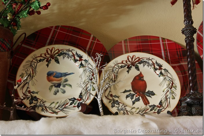 Winter Mantel Decor-Bargain Decorating with Laurie