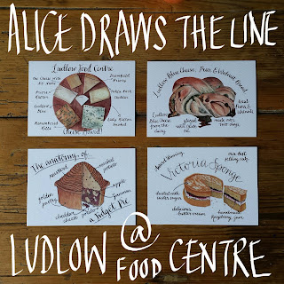 Food Illustration Ludlow Food Centre by Alice Draws The Line