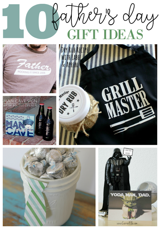 10 Father's Day Gift Ideas at GingerSnapCrafts.com #fathersday #giftideas