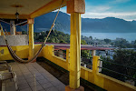 The view from our balcony at Hotel Peneleu, San Pedro de La Laguna, Lago Atitlán