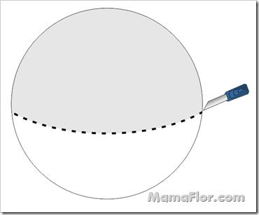 Esfera cortada en 2 partes