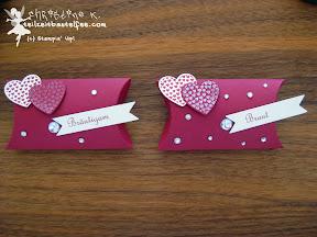 stampin up pillow box hearts a flutter wedding bitty banners famose fähnchen hochzeit