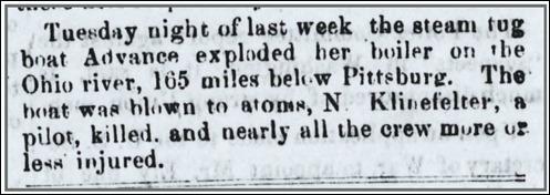 Klinefelter_TheLocalNews_AlexandriaVA_5 Feb 1862_pg 1