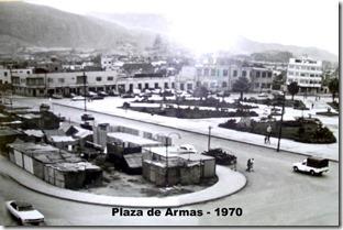 Plaza de armas de Chimbote ano 1970