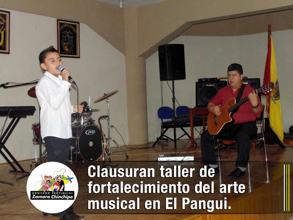 CLAUSURAN TALLER DE FORTALECIMIENTO DEL ARTE MUSICAL EN EL PANGUI