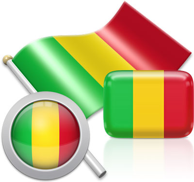 Malian flag icons pictures collection