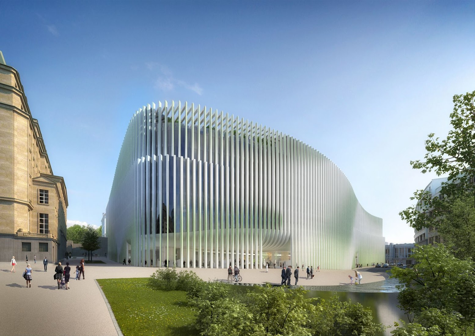 Bruxelles, Belgio: [NEW HEADQUARTERS FOR BNP PARIBAS FORTIS BY BAUMSCHLAGER EBERLE]