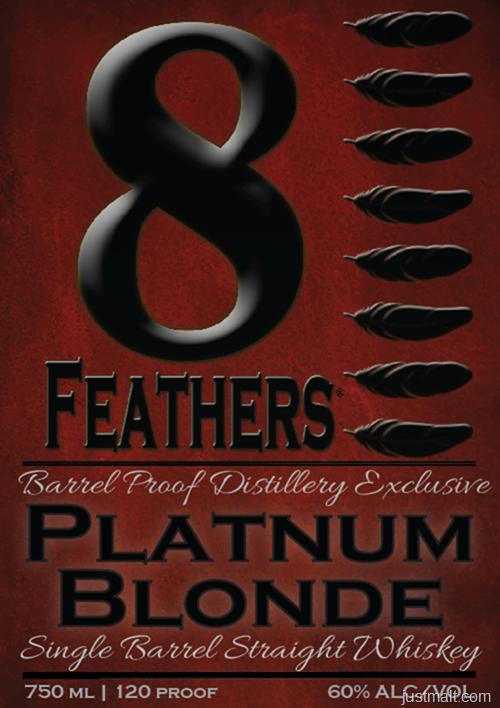 8 Feathers Platinum Blonde Single Barrel Straight Whiskey
