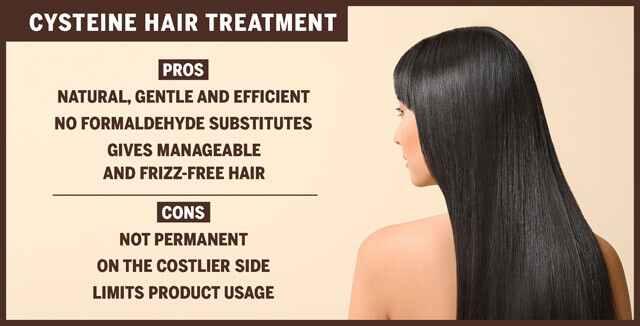 علاج الشعر السيستين: إيجابيات وسلبيات إنفوجرافيك