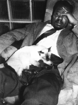 Thelonius Monk and a cat