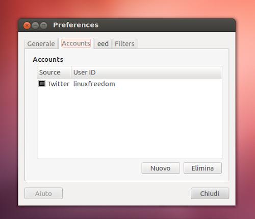 GFeedLine 1.7 su Ubuntu - multiaccount