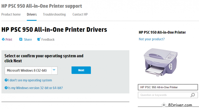 download HP PSC 950xi All-in-One Printer driver 1