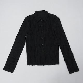 Issey Miyake Fete Black Diamond Print  Jacket