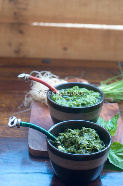 Arugula Pesto- Two Ways