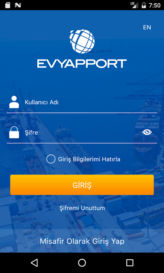 EvyapPort- screenshot
