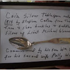 Silver spoon made from silver buckles