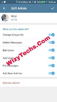 Telegram admins