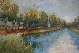 Oranjekanaal - 40 x 50 cm - olieverf op paneel