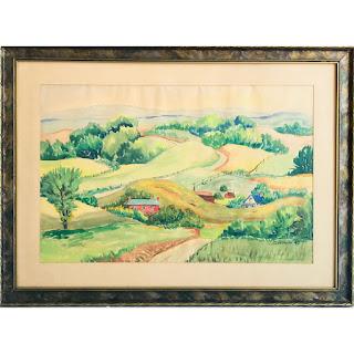 C. Gottshalk Signed Watercolor Landscape