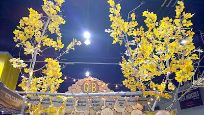 A little bit of nature offered by G B with the yellow aspens at their GABF booth