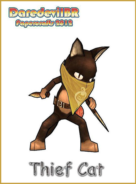 Thief Cat Papercraft