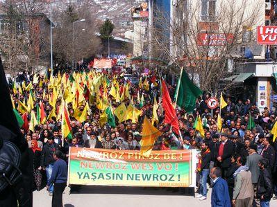 Kurdish new year celebration