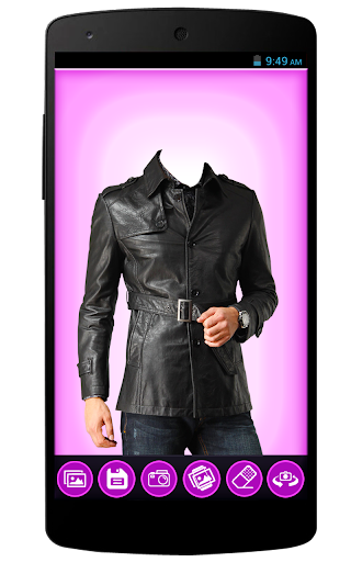 Men Leather Coat Photo Editor