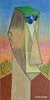 117 - Mandrill - 2005 120 x 60 - Acrylique sur toile