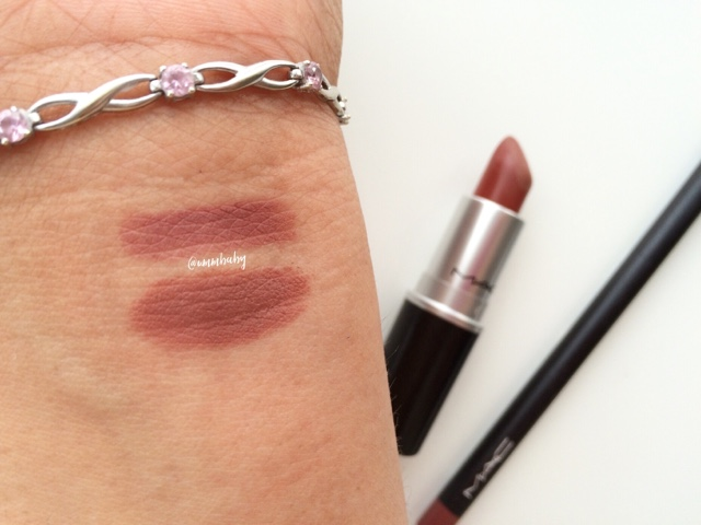swatch of MAC Whirl NC40
