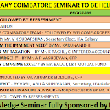 Coimbatore Seminar 9th March 2013