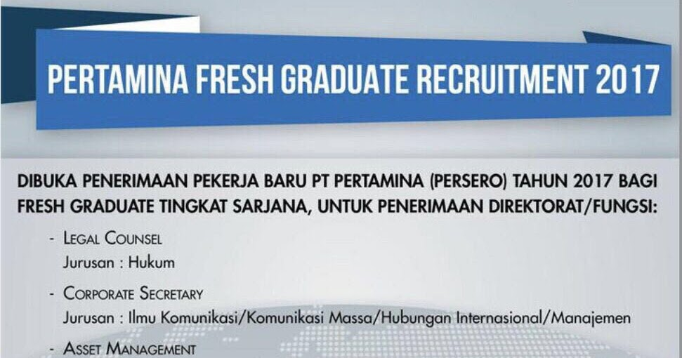 Pertamina Fresh Graduate Recruitment ~ Liputan CDC