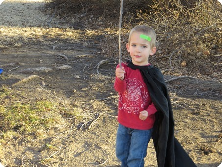 Playing Outside with Swords & Capes