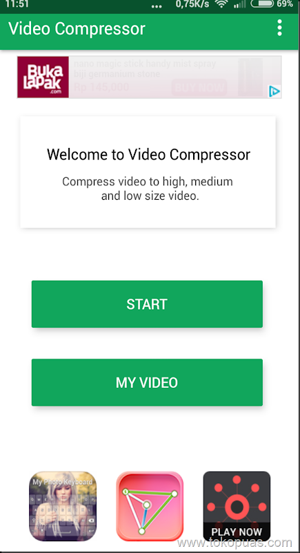 cara memperkecil ukuran video android